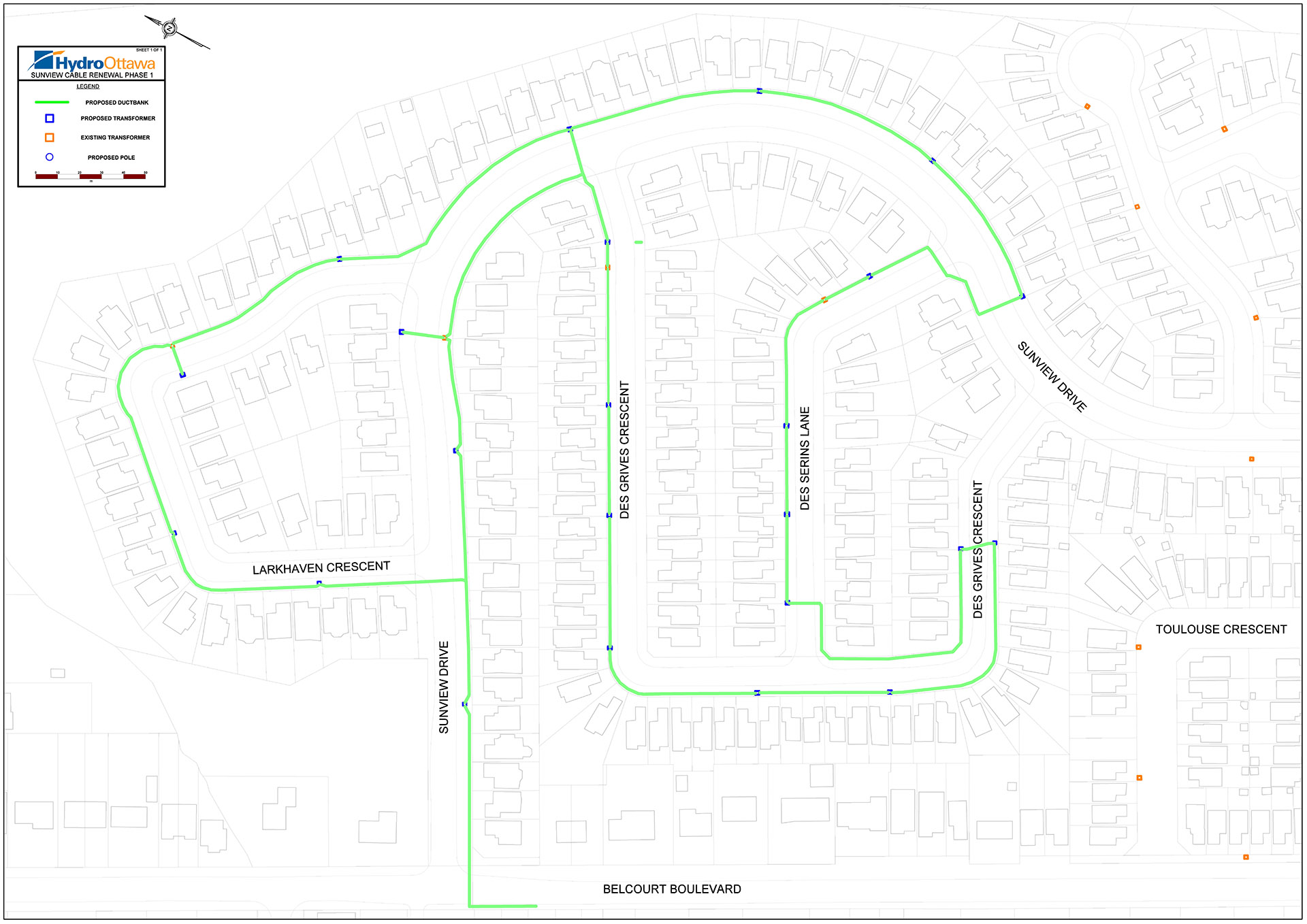 Sunview Drive Cable Renewal March - May 2021