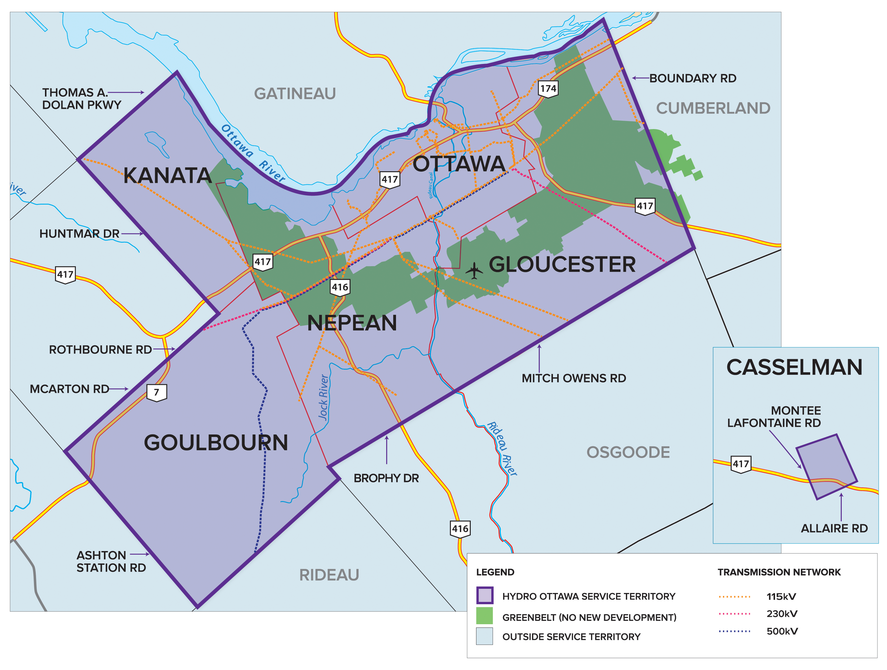 Hydro Ottawa's Coverage Map