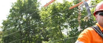 Hydro Ottawa power line maintainer